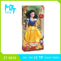 2016 New !Eco-friendly PVC 11 Inch barbie Snow white princess christmas barbie doll