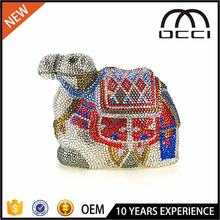 Custom colorful camel model crystal clutch buying from china OC3175