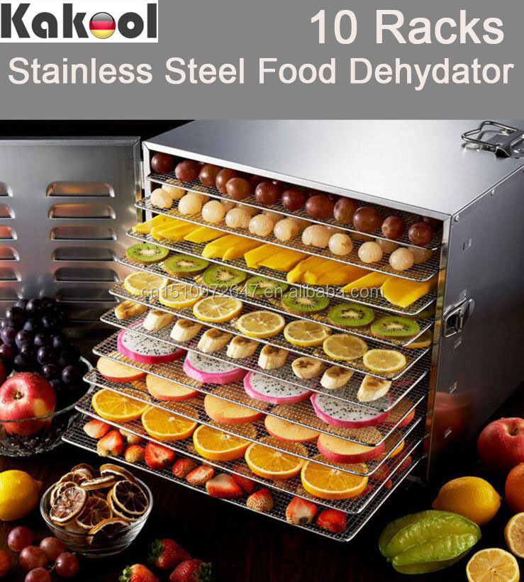 Stainless Steel Fruits And Vegetables Dehydration Machines With 10 Racks