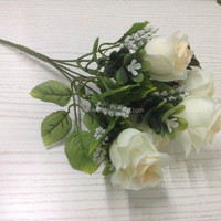 artificial flower bush Rose bushes for sale silk flowers bushes