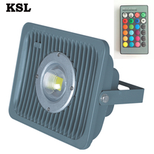 Buy Shenzhen Rohs Christmas Green Color Changing Outdoor 50W Cob Led Flood Lighting Covers With Lens 20 Watts