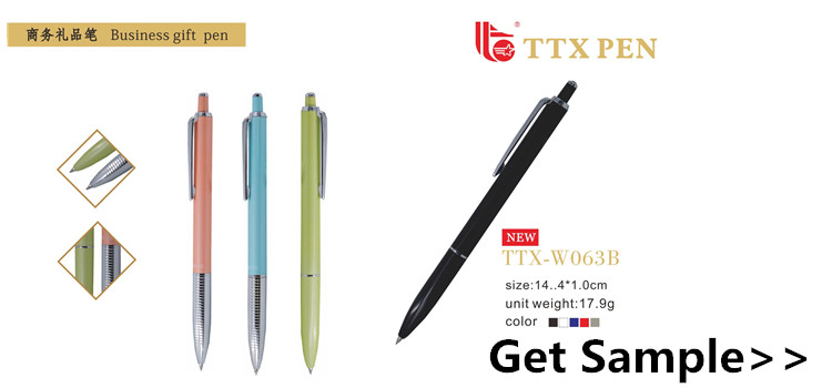 hot selling click action aluminum promotional metal stylus touch screen pen
