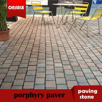colorful porphyry paving stone,porphyry paver,porphyry pavement