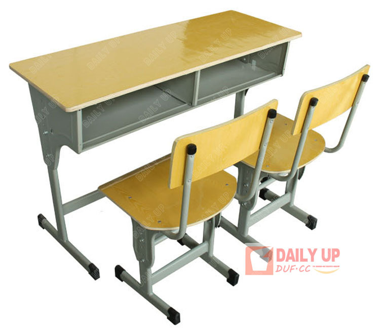 Wood Combo Chair: Wooden Double School Desk And Chair Set School Furniture