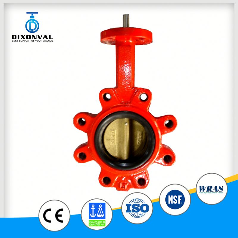 low pressure full lug 100mm butterfly valve