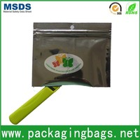 ziplock foil sachet printing with hang hole resealable laminate small bag