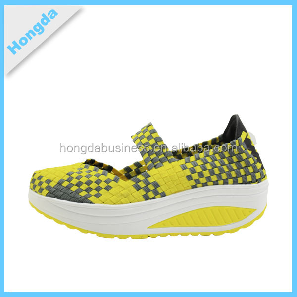 Slip-on Woven shoes sport running shoes women breathable foot wear