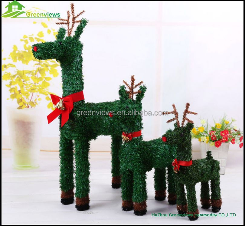Wholesale indoor amp outdoor christmas decoration pvc green deer 60cm