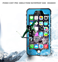 For iphone 6/6s Waterproof, Dustproof, Snowproof, Shockproof Case with Touched Transparent Screen Protector