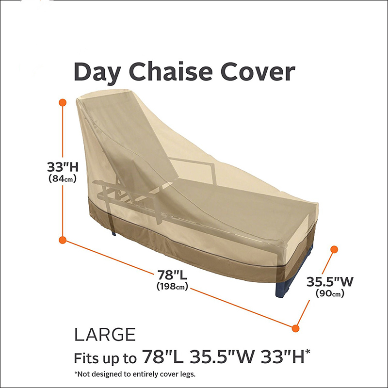 Waterproof Outdoor Furniture Cover - Day Chaise Cover