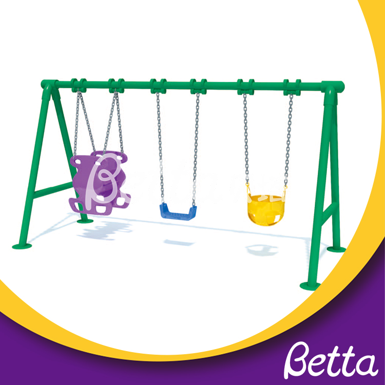 New products park 3 seat outdoor garden kids swing
