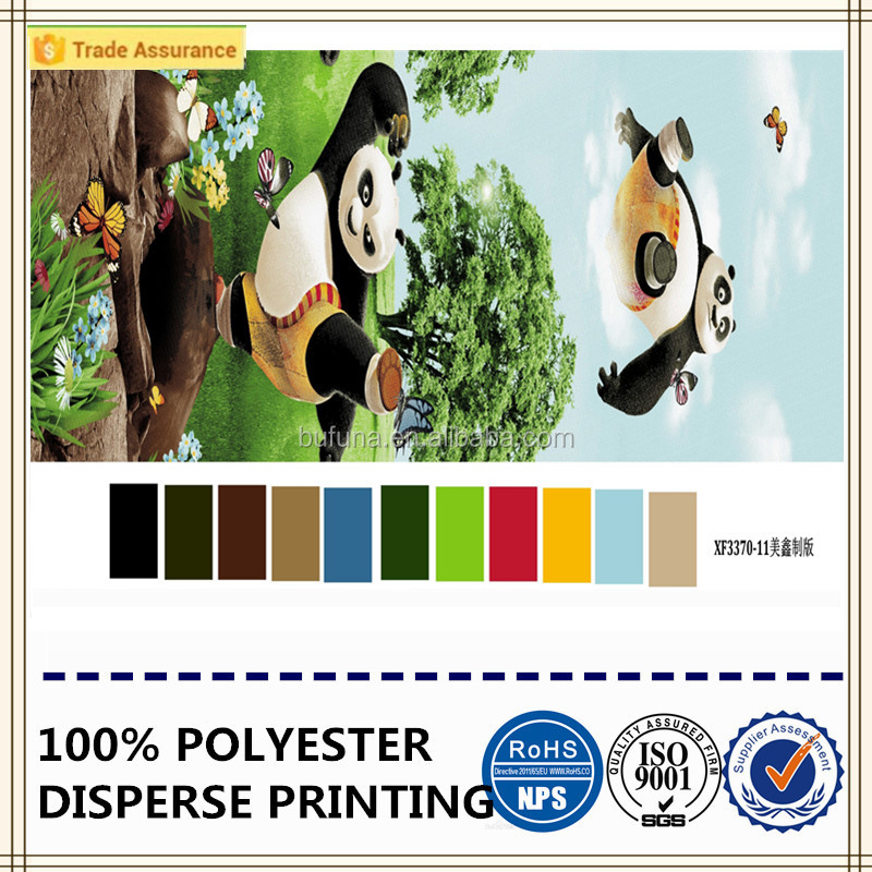 3d kungfu panda printed fabric high quality fabric polyester brushed fabric
