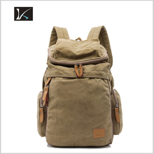 2016 Fashion Design Vintage Casual Washed Canvas Custom Cartoon School Backpack with Embossed Logo