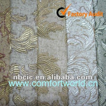New Fashion Jacquard Chenille Upholstery Fabric