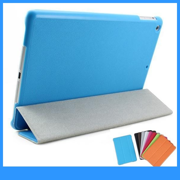 For iPad air case ipad 5 case Tri-Fold Slim Shell Smart Case Cover with Sleep/Wake (PT-IP5211)