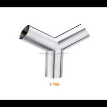 Stainless Steel Tri-Clamp Y Type Tee Tube Pipe Fittings