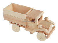 Small Wood Craft Toy Cars With Slanted Front Baby Toy