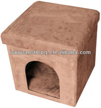 Home multifunctional! Comfortable Brown Pet House/ folding ottoman