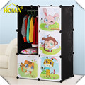 Lovely cartoon animal wardrobe design for kids