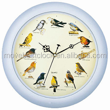 Round Bird sound chime clock