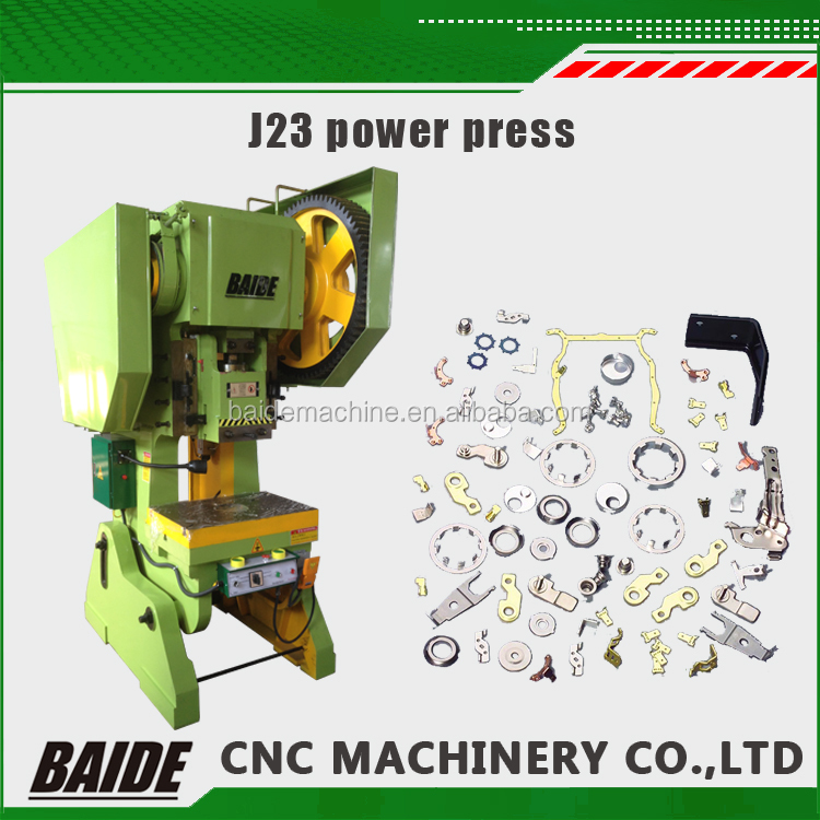 J23 cnc punch press high precision hole punching steel plate punch machine
