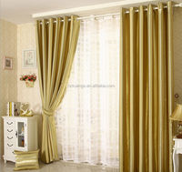 Vertical Stripe Polyester Jacquard Blackout Shining Curtain Fabric