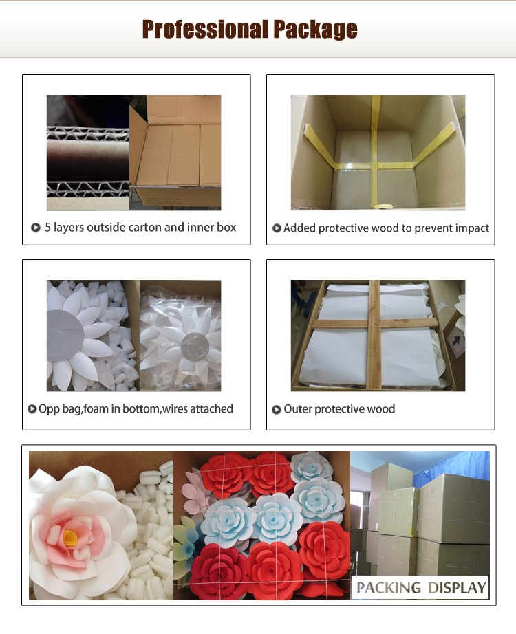 Beautiful Different Size 14 Pieces White Paper flower Collection Decoration Wall Backdrop Whole Sale