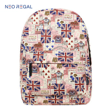 Leisure and fashion flower printing backpack