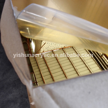 guangzhou wholesale high reflective 2mm 3mm gold and silver plastic acrylic perspex mirror sheet