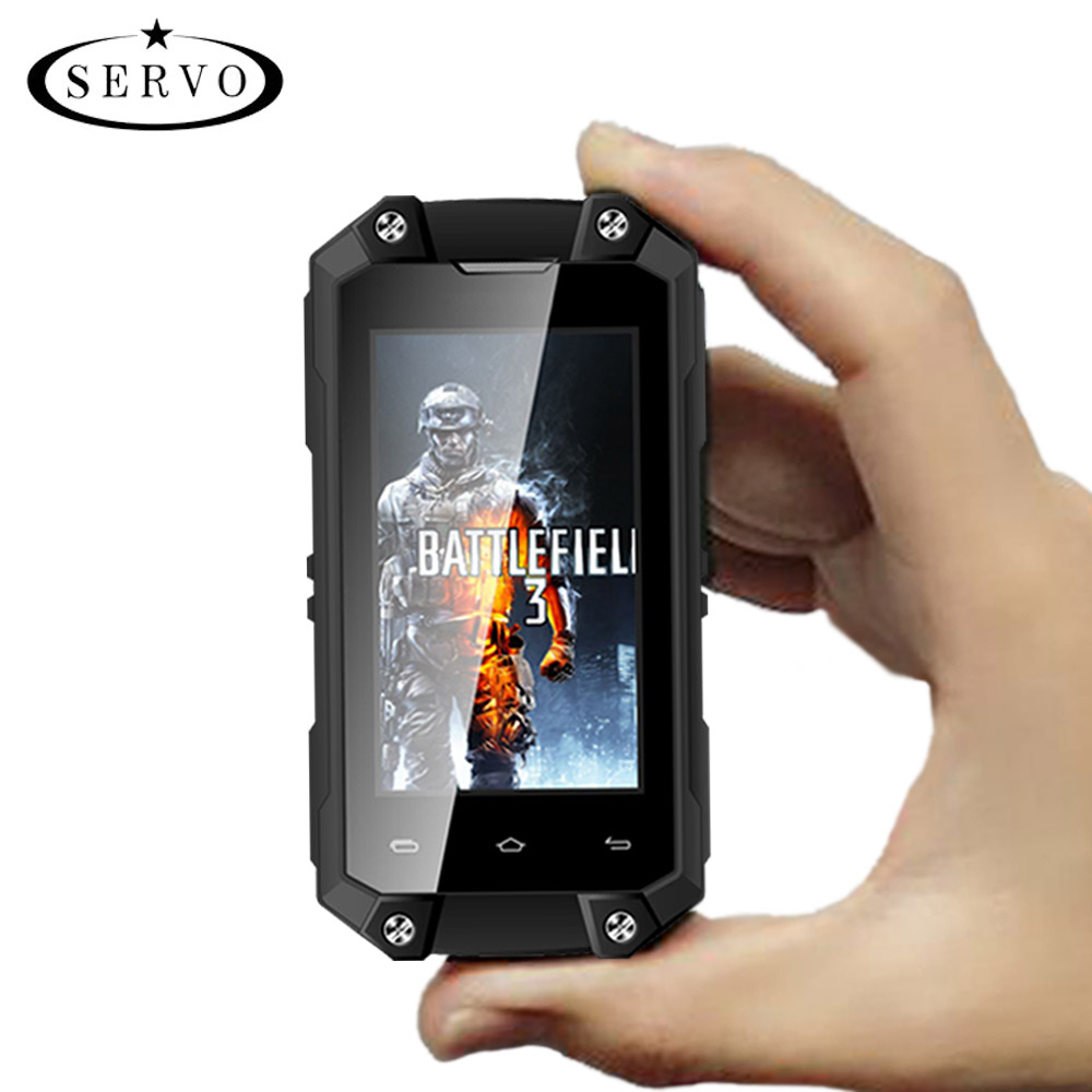 SERVO J5 Plus 2.45 inch MTK6580 mini <strong>android</strong> smartphone IP65 waterproof mobile <strong>Phones</strong>