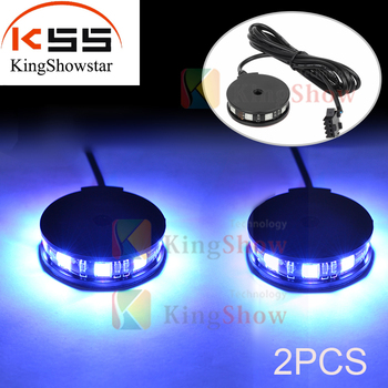 Kingshowstar 2Pods Universal RGB 360 Degree Colorful Wheel Light Axle Center Motorcycle LED