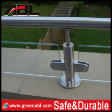 Quality guaranteed stainless steel glass clamp hinge iron balcony railings designs