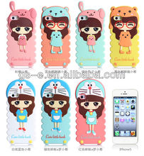 Top grade 3d silicone phone case for iphone 4 4S 5,mobile phone cases for girls best brands plain phone cases