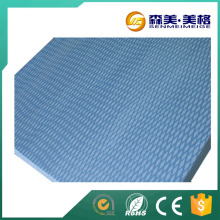 compressed blue extruded polystyrene foam