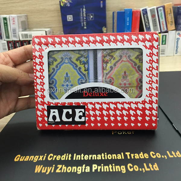 ACE brand Double box set 100% playing poker cards on hot sale