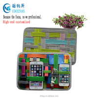 colorful gadget organizer cable organizer elastic storage plate PU case for IPAD