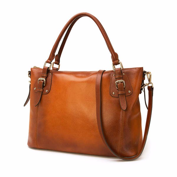 Wholesale Factory Price Famous Brand Reversible Vegan Lady Tote Bag PU Leather Handbag