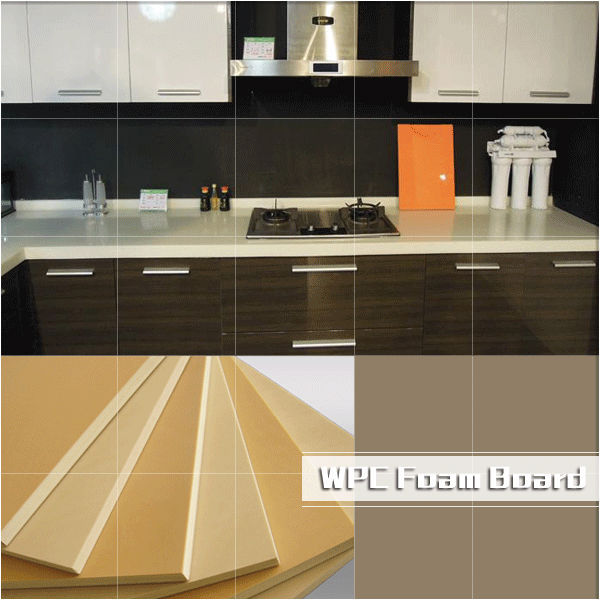 Wpc foam board/wpc furniture board/waterproof kitchen cabinets