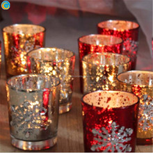 birthday decoration glass candle holder soy wax candle in glass