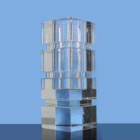 Wholesale clear square crystal glass vase