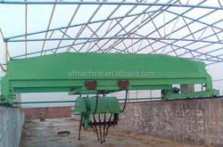 Hot sale organic fermentation material continuous groove type turning machine for fertilizer