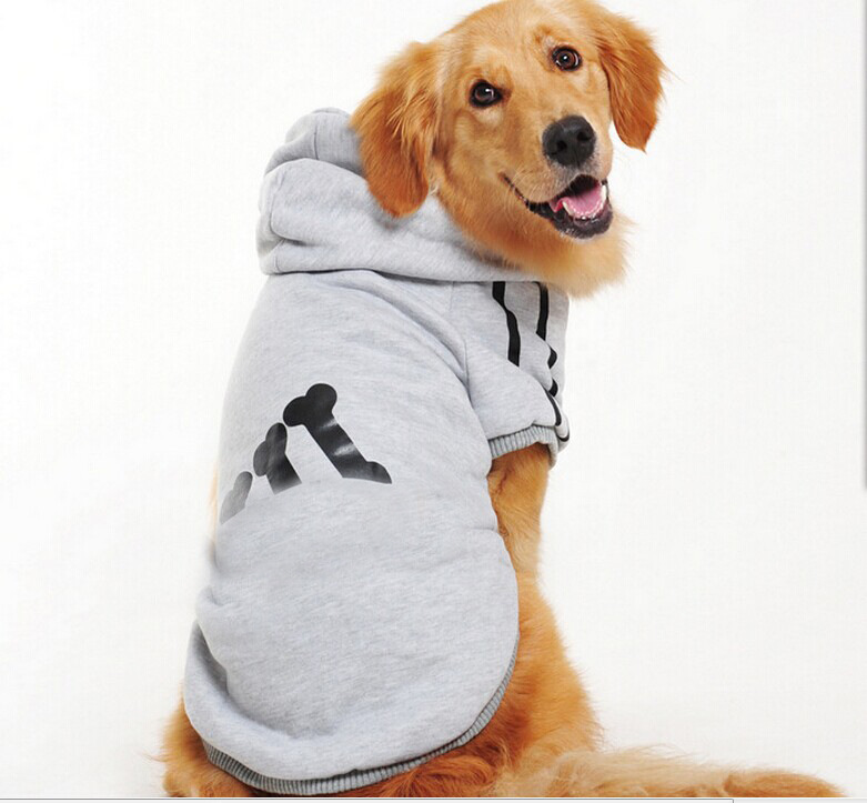 wholesale classical sport large dog clothes hoodies