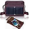 Shoulder Bag With Solar Panel For Phone Charge