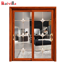 Wholesale Double Glass Aluminium Bedroom Sliding Door Designs