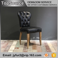 French style leather high back dining room chairs