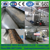 Stainless steel fruit vegetable mesh conveyor belt dryer/7layer 9meters Dog feed pellet dryer/fish food drying for sale
