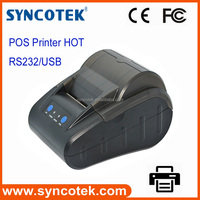 cheap rate 58mm thermal rs232 pos receipt printer for cash counter machine