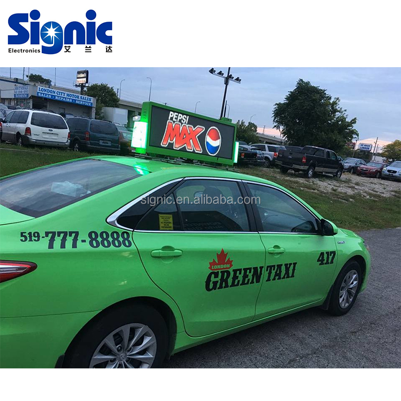 LED 3G 4G WiFi taxi roof led display/led screen car advertising/Digital Taxi Top Advertising sign