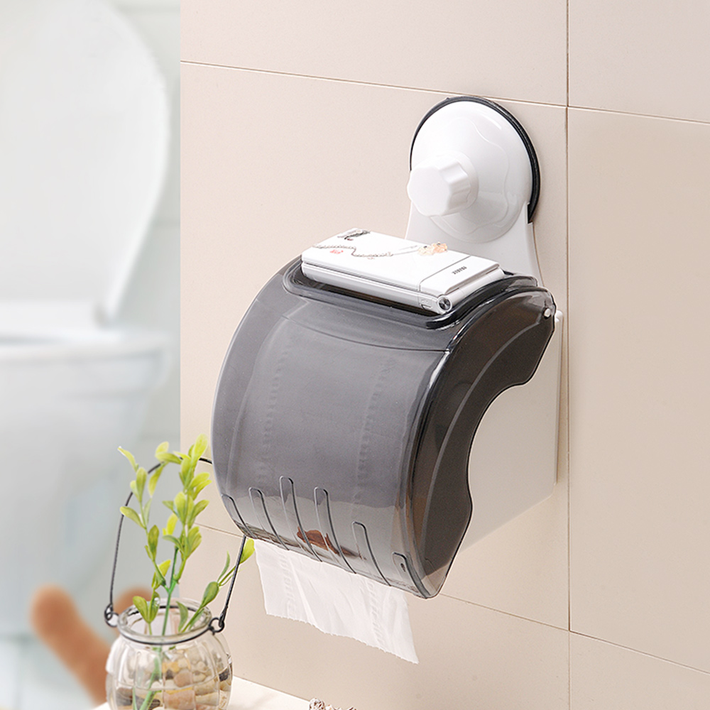1983 SQ online shopping eco-friendly home style suction cup plastic waterproof toilet paper towel holder