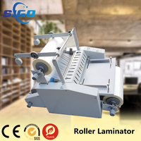 V370 roll laminator (hot&cold) plastic laminating machine with big steel roll